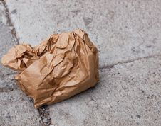 Free Crumpled Paper Bag Stock Photo - 16092700