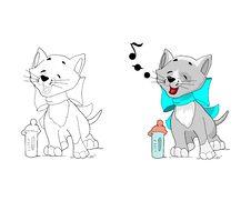 Free Singing Kitten Stock Image - 16092711
