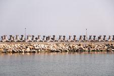 Breakwater Dam Royalty Free Stock Images