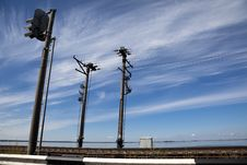 Electric Poles. Royalty Free Stock Photo