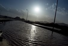 Free Heavily Flooded Road. Stock Photography - 16093202