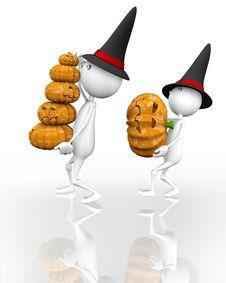 Free 3d Halloween Pumpkin Stock Images - 16093354