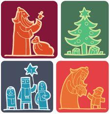Free Christmas Set (2) Royalty Free Stock Photos - 16094598