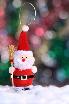 Decorative Doll Of A Santa Clau Stock Photo