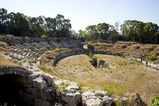 Free The Roman Amphitheatre, Siracusa Stock Images - 16094804