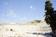 Free Siracusa S Greek Theatre Royalty Free Stock Photography - 16095097