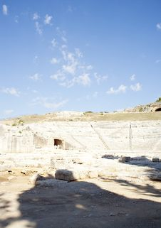 Free Siracusa S Greek Theatre Stock Photography - 16095122