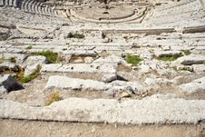Free Siracusa S Greek Theatre Royalty Free Stock Photos - 16095138