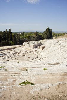 Free Siracusa S Greek Theatre Royalty Free Stock Images - 16095149