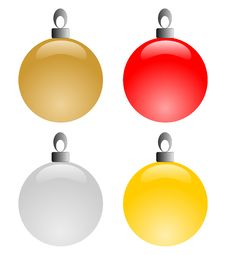 Free Christmas Balls Stock Images - 16095184