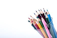 Free Colored Pencils Royalty Free Stock Photo - 16096125