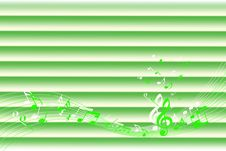 Free Background Of Green Music Notes Stock Image - 16096181