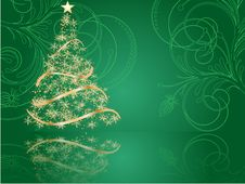 Free Stylized Christmas Tree Stock Images - 16096754