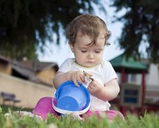 Free Cute Baby At The Playground Royalty Free Stock Image - 16096976