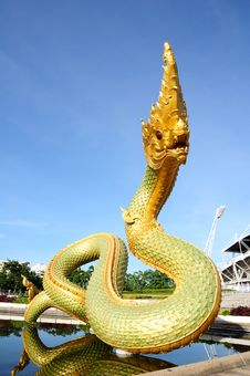 Free Serpent Above The Pool With Blue Sky. Stock Image - 16097591