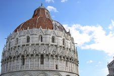 Baptistry Of St. John In Pisa, Italy Royalty Free Stock Photography