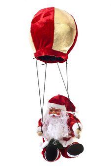 Free Santa Claus In A Hot-air Balloon Stock Photos - 16097763