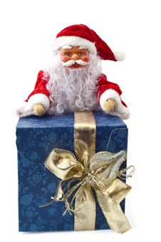 Santa Claus Sitting On A Parcel 1 Royalty Free Stock Image