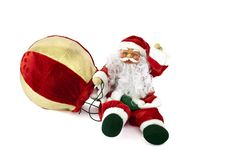 Free Snowman Santa Claus With Balloon 1 Royalty Free Stock Image - 16097846