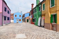 Free Burano Island In Venice Stock Photos - 16098523