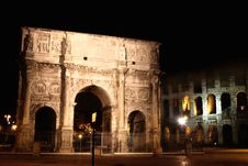 Free Arco De Constantino And Colosseum In Rome, Italy Stock Photos - 16098663
