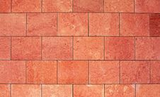 Large Red Wall Tiles Royalty Free Stock Photo