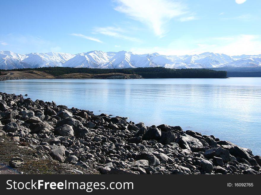 Lake Tekapo in Winter