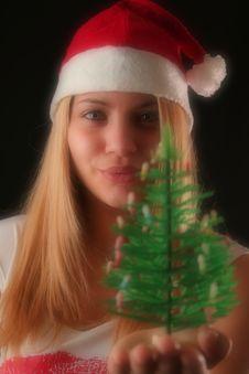 Free Christmas Girl Royalty Free Stock Image - 1610316