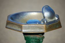 Water Fountain At The Ball Field Stock Image