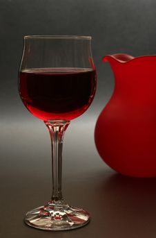 Glass Or Red Wine Stock Image