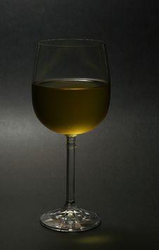 White Wine Dark Background Stock Photo