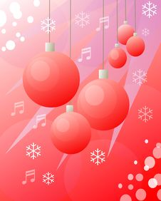 Free Christmas Balls Red Drawing Royalty Free Stock Photo - 1611675