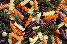 Free Colorful Pasta Royalty Free Stock Image - 1611756