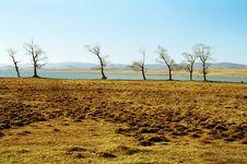 Free Autumn Trees Near Lake Stock Photography - 1612652