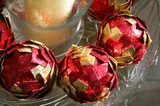 Christmas Ball Ornaments Stock Photos
