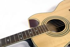 Free Guitar And White Background Royalty Free Stock Photo - 1614145
