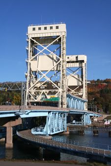 Free Houghton Vertical Lift Bridge Stock Image - 1614211