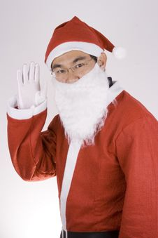 Free Asian Santa Claus Say Hi Royalty Free Stock Photo - 1614575