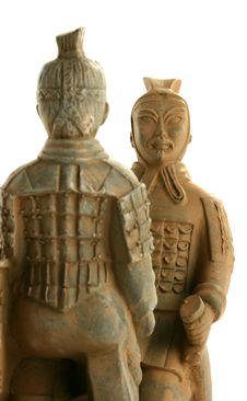 Free Two Chinese Warriors Facing Each Other Royalty Free Stock Images - 1614829