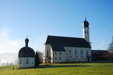 Free Scenic Bavarian Church Royalty Free Stock Images - 1615319