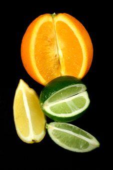 Orange Lemon And Lime Royalty Free Stock Photography
