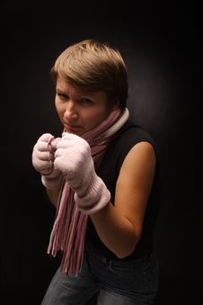 Free Boxing Girl Stock Photo - 1615760