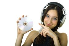 Free Girl With Headphones Stock Photography - 1616022