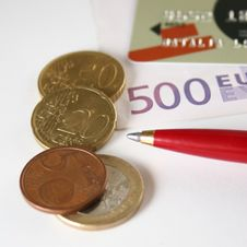 Free Credit Card Euro Coin Royalty Free Stock Photo - 1616095