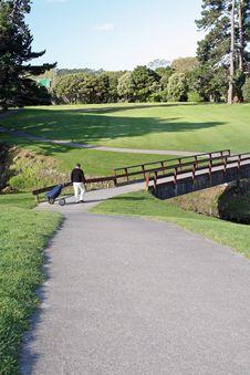 Free Golfer Walking Stock Images - 1616714