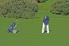 Free Golfer And Caddy Bag Stock Images - 1617344
