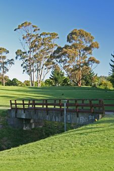 Free Bridge On A Golf Course Stock Photography - 1617392
