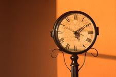 Antique Clock - Horizontal Stock Photo