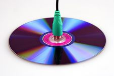 Free Compact Disc And PS2 Connector Royalty Free Stock Image - 1618826