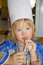 Free Little Girl Drinking Water. Royalty Free Stock Photography - 16100037
